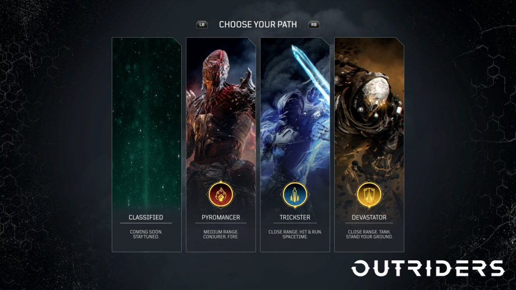 Outrider classes